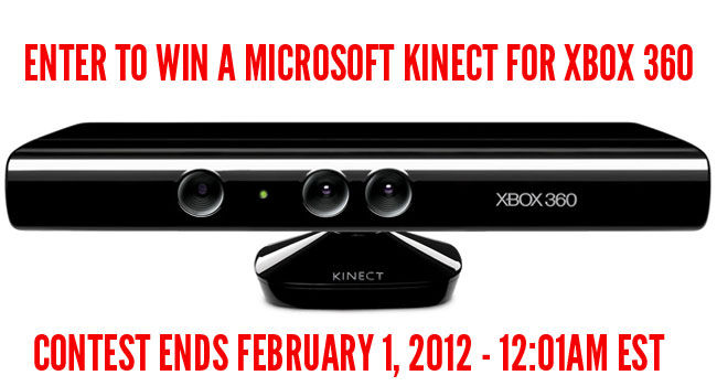 Hey Guys, We're Giving Away A Kinect For Xbox 360!