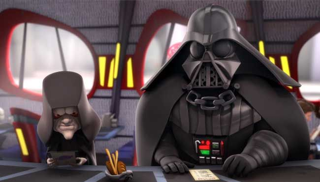 Anyone else remember that Star Wars: Lo Mein Flash cartoon? Exactly what this reminds me of.