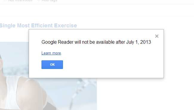 This is how I was greeted the first time I ever opened Google Reader