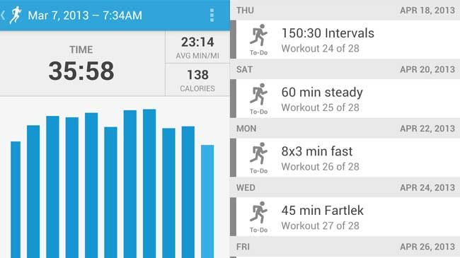 Plenty of stats to keep you informed on what's going down during your walk/runs.