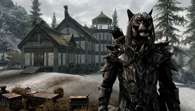 Skyrim Hearthfire DLC Screen