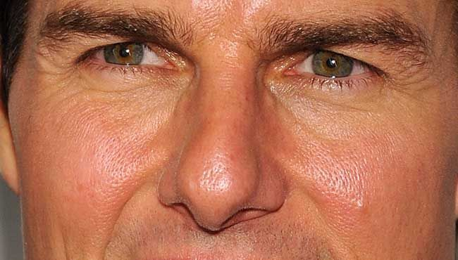Tom Cruise's face is like a falcon, ready to rip you up!