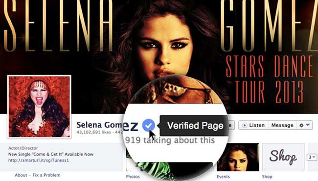 Know that this is the real Selena Gomez before you start liking her page.