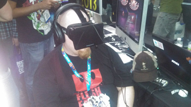 Nick checking out Soundself on the Oculus Rift