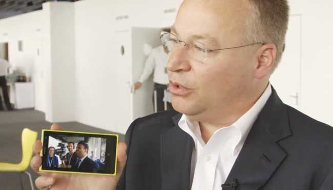 Nokia CEO Elop was in full PR mode showing off this phone to The Verge